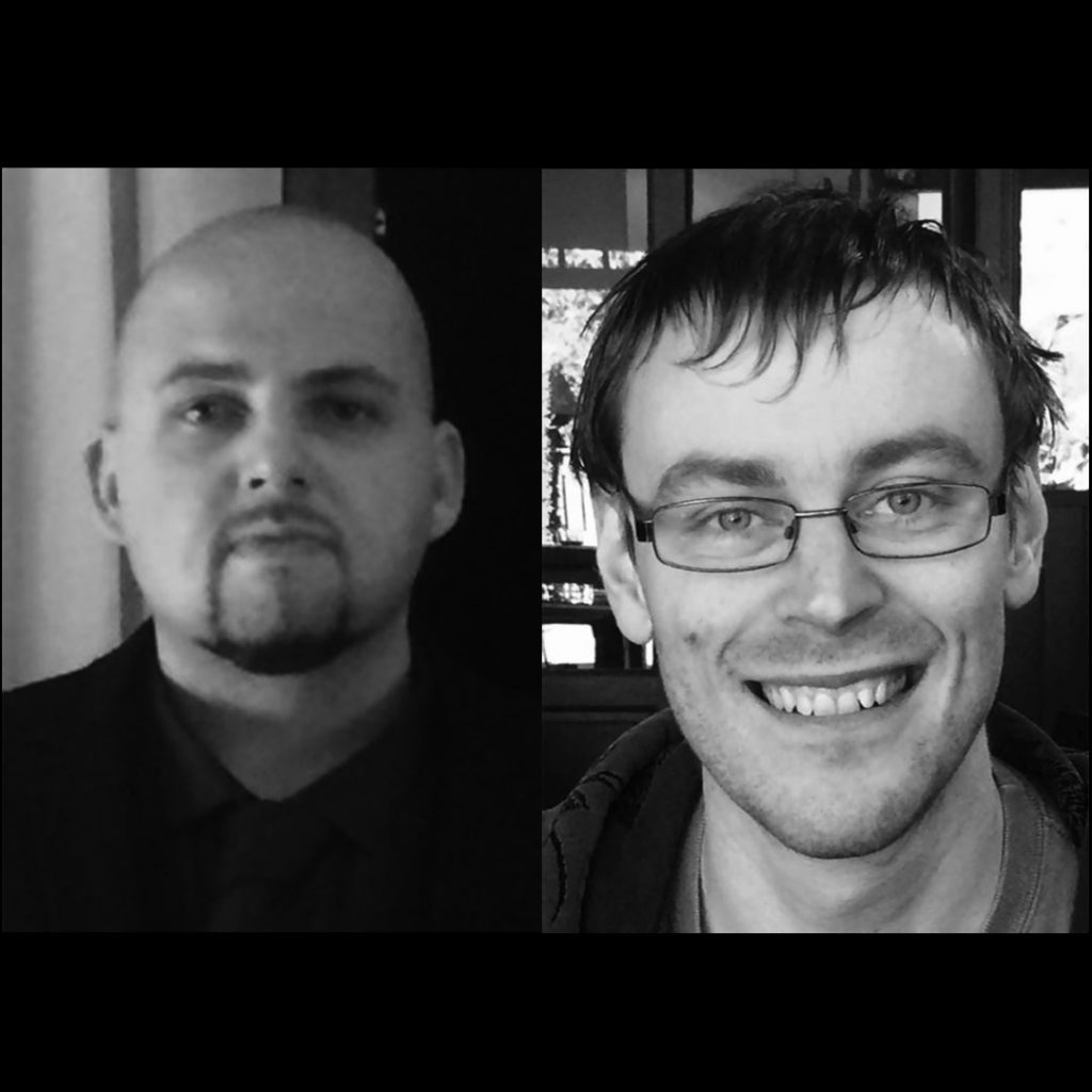 Picture of RJ Bathgate & MJ Hall – authors of Darkview
