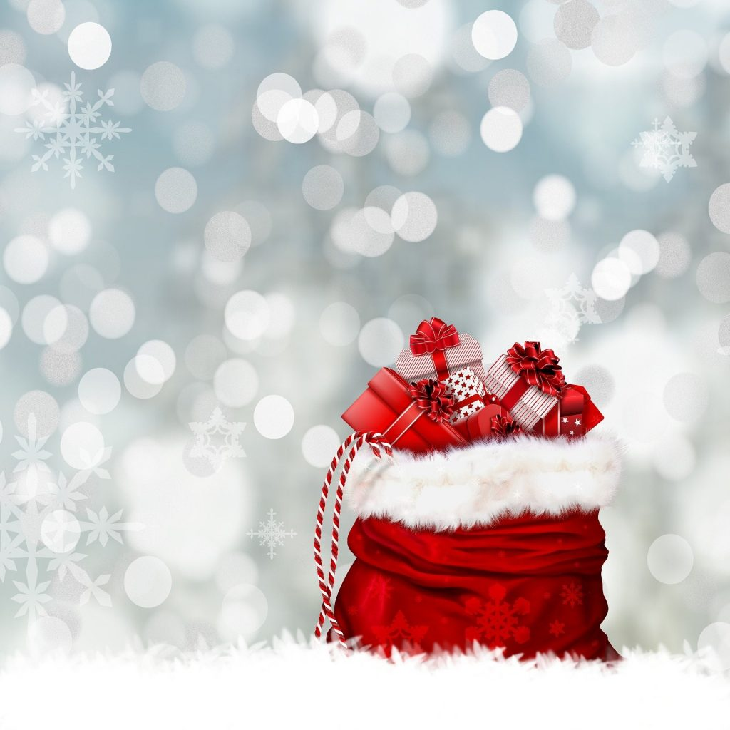 Sack of presents and snow (Whisper Publishing)