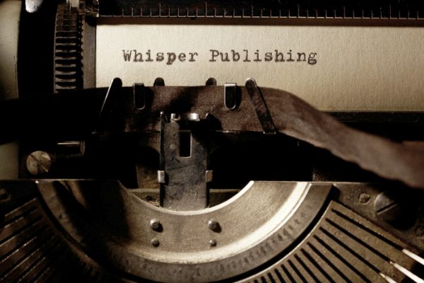 Whisper Publishing typewriter